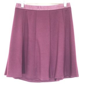 The Limited Plum Skater Skirt